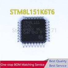 2 sztuk STM8L151K6T6 8L15 QFP32 oryginalny 8-bit ultralow moc MCU, do 32 KB Flash, 1 KB danych EEPROM RTC, LCD, timery, USART IC