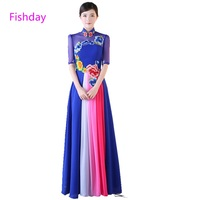 Fishday Formal Evening Dress Long Women elegant formal blue special occasion 2019 plus size gown mother of the bride party E20