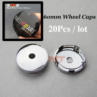60mm 2 36inch Pvc Auto Wheel Center Cap Car Wheel Hub Caps For RALLIART Logo