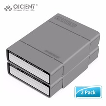 """QICENT 2 PCS/LOT Simple HDD Protecteur Boîte pour 3.5 """"HDD Cas avec la Fonction Imperméable À L'eau, Hdd avec Shockroof fonction"""