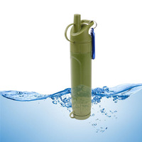 Emergency Life Survival Portable Purifier Water Filter Straw Drinking filtration Gear Safety Survival for Hiking Camping Travel