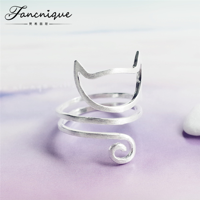 925 Sterling Silver Twine Cat Ring Young Girl Jewelry 925 Sterling Silver Rings