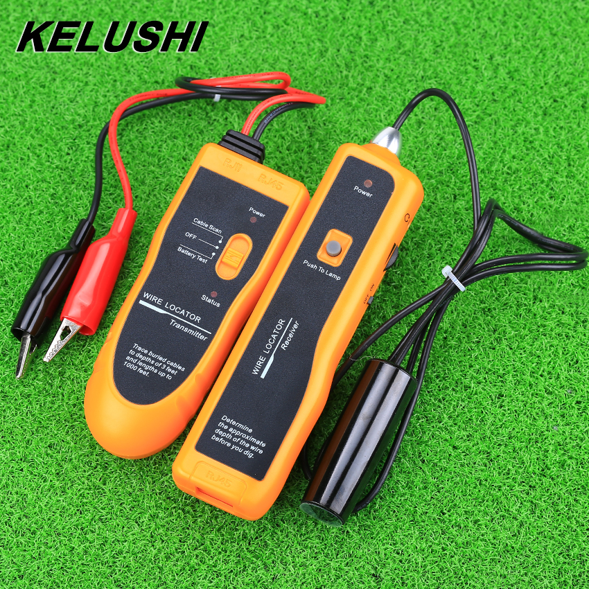 KELUSHI RJ11 RJ45 Cat5 Cat6 NF-816 Hot Sale Underground Telephone Ethernet UTP FTP LAN Network Cable Wire Tracker Tester Finder