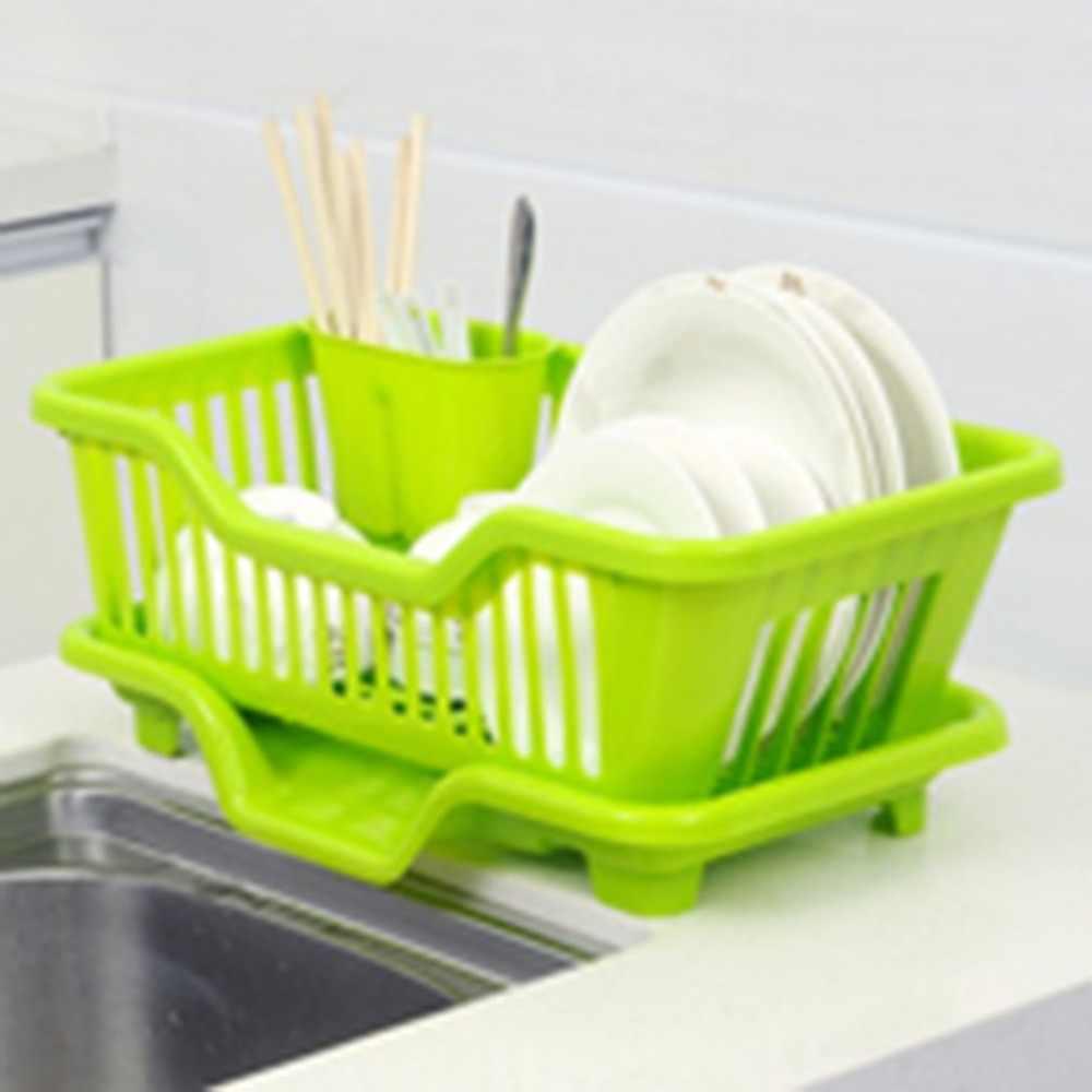 แฟชั่นที่ยอดเยี่ยมห้องครัวอ่างล้างจาน Multi-function Drainer ตู้แร็คอบแห้งซักผ้าผู้ถือตะกร้าถาด Dropshipping