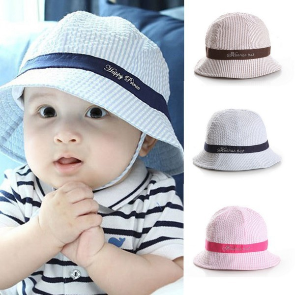 3 Colors Summer Outdoor Baby Boy Girl Hats Toddler Infant Sun Cap Sun Beach Bucket  Hat ZV37 8550d4d4116