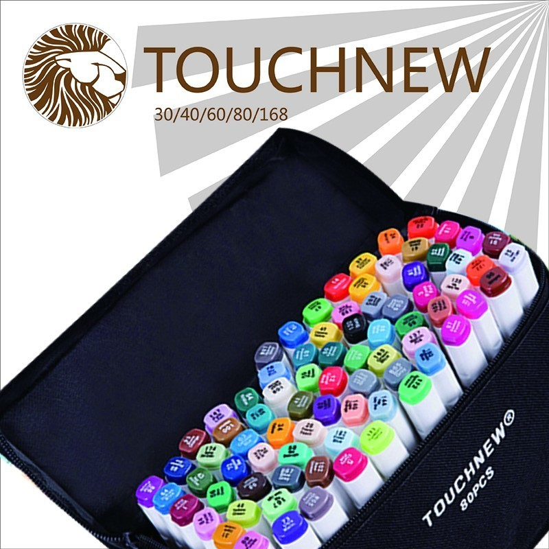 TOUCHNEW fine Marker Pen Two-headed Oily Pen Students Hand-painted 60 72 80 Colors Permanent  Manga Art Paper draw drawing touchnew 60 colors artist dual head sketch markers for manga marker school drawing marker pen design supplies 5type