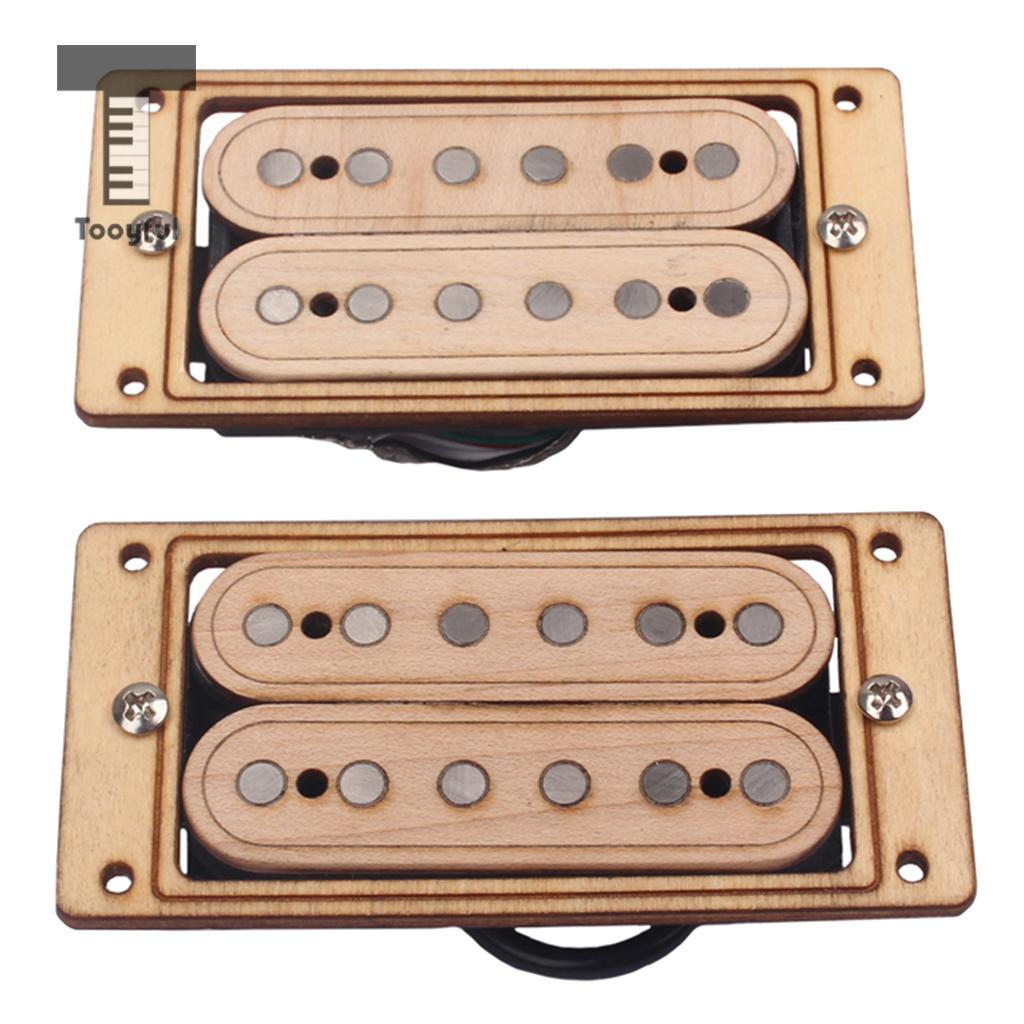 Tooyful Electric Guitar Double Coil Humbucker Pickup Alnico 5 Set Neck & Bridge for Strat ST SG Guitar Parts single coil pickup cover 1 volume 2 tone knobs switch tip for strat guitar replacement ivory 10 set