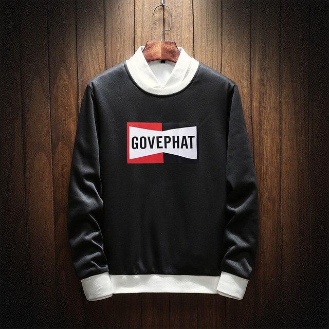 2018 Уличная пуловер Демисезонный модные Для мужчин s толстовки и кофты с длинным рукавом с принтом Толстовка Для мужчин большие размеры XS-3xl