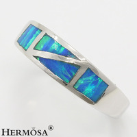 Hermosa Jewelry Dreamy Fire Australia Opal 925 Sterling Silver Party Prom Ring Size 8