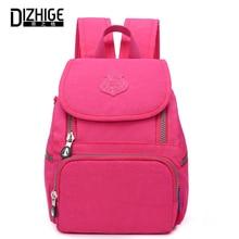 DIZHIGE Brand Waterproof Backpack Women Nylon Fashion High Quality School Bags For Women Solid Zipper Large Capacity Bags Female