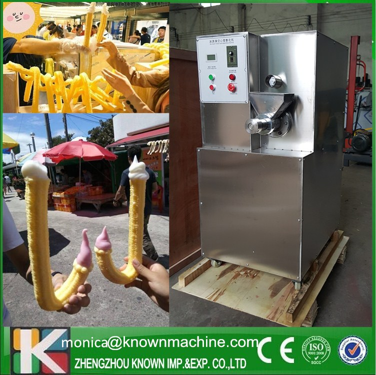 Pop Crutch Ice Cream Puffed Machine 20 kg/h capacity Corn Puffing Machine multifunctional corn and rice puffing machine grain bulking extruder machine puffed maize snacks making machine zf
