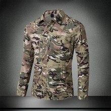 Весенне-летняя мужская тактическая камуфляжная дышащая быстросохнущая рубашка с длинным рукавом, мужская рубашка с коротким рукавом