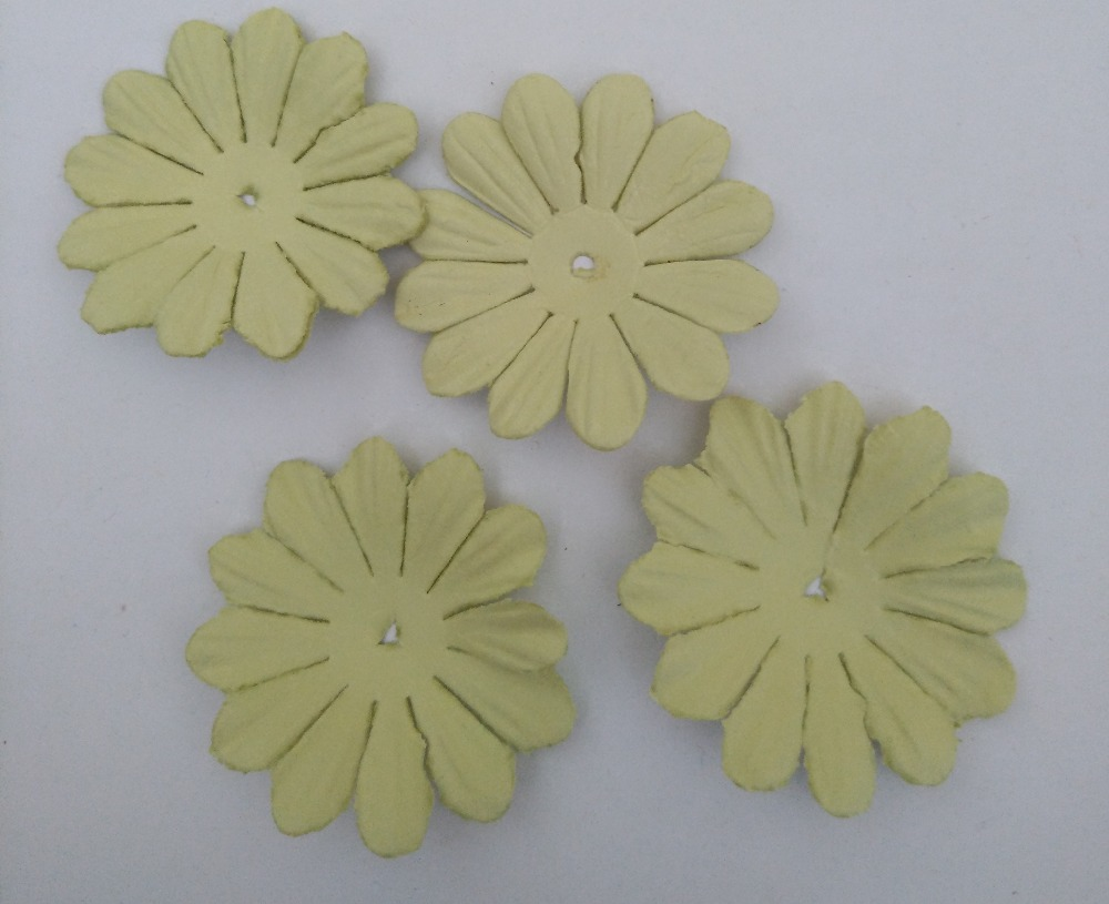 45mm Paper Flowersscrapbook Decorationpale Green15pcslotscrapbooking Paper Flowers In Embellishments From Home Garden On Aliexpress