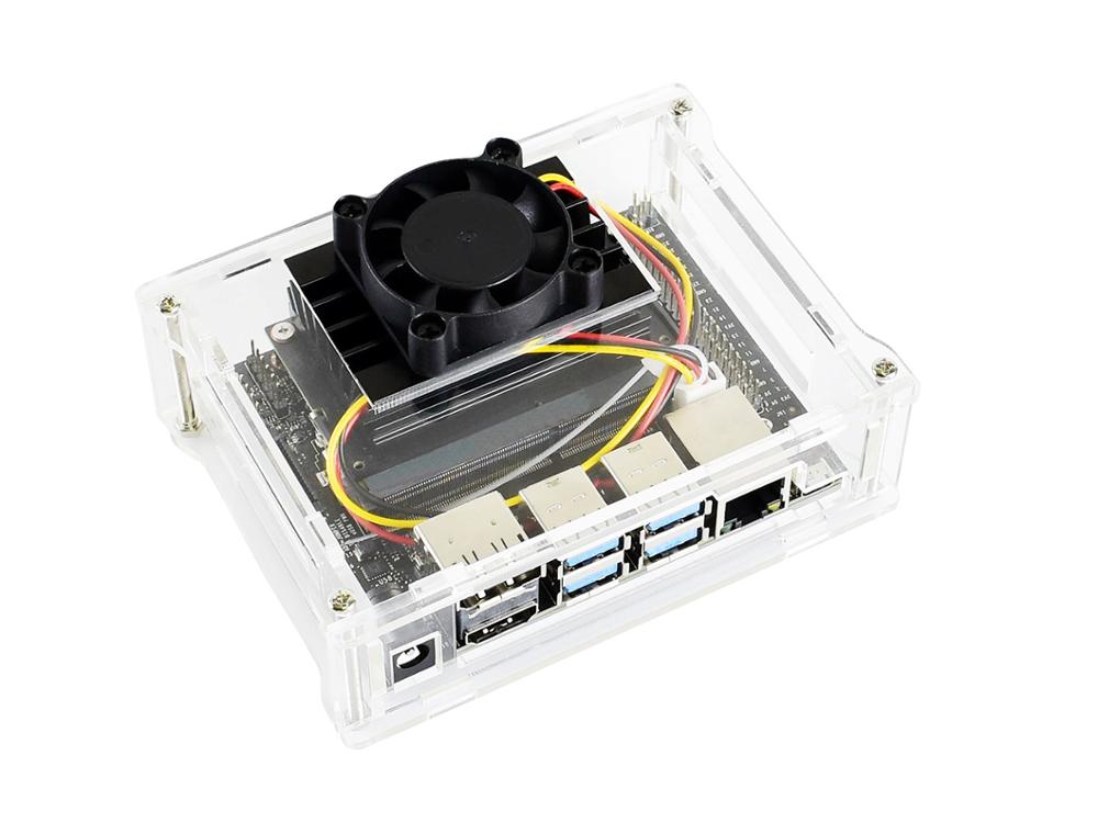 Waveshare Acrylic Clear Case With Dedicated Cooling Fan For NVIDIA Jetson Nano Developer Kit