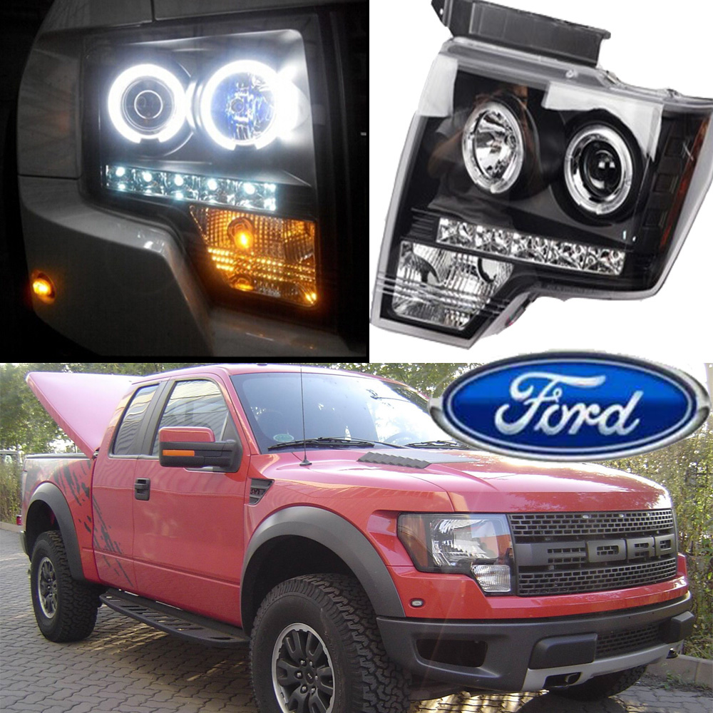 car-styling,Rapto F150 headlight,2009~2014,Free ship!chrome,F150 fog,chrome,LED,F-150,F 150,Transit,Topaz,Edge,Taurus,Tempo
