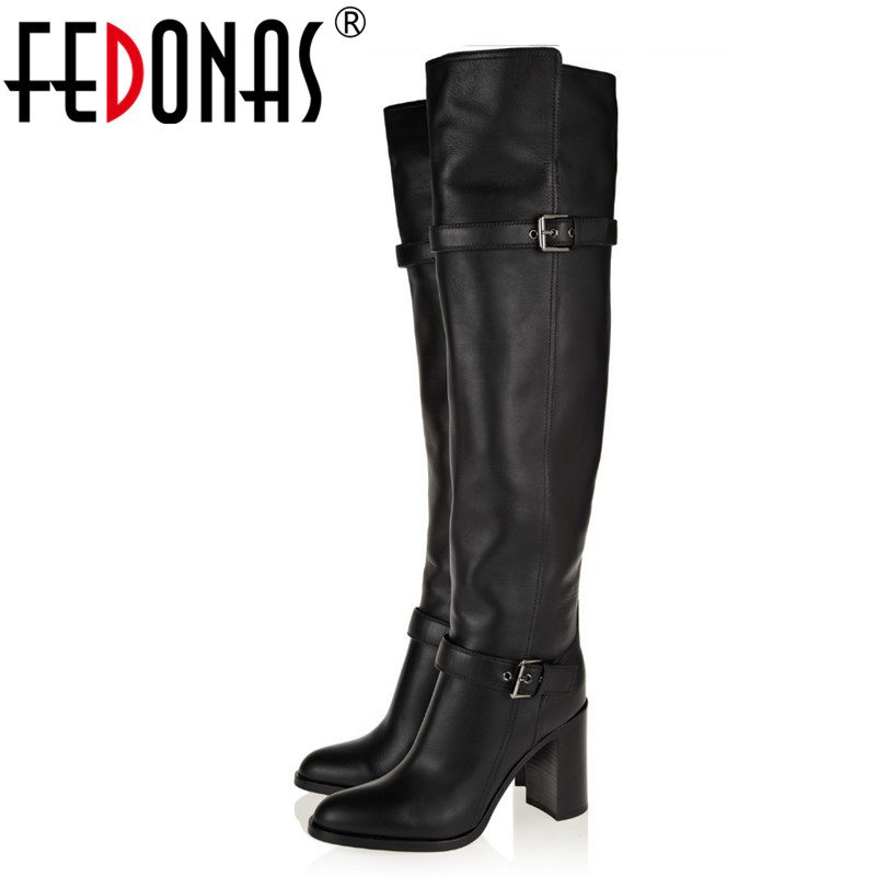 FEDONAS Thigh High Boots Gladiator Boos Ladies Over The Knee Knight Boots Fashion Sexy High Heeled Autumn Winter New Long Shoes цены онлайн