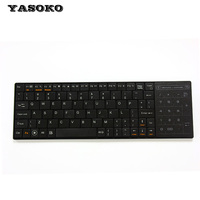 5pcs Lot 2015 Newest Super Thin BT8 Bluetooth 3 0 Wireless Keyboard With Touchpad For PC