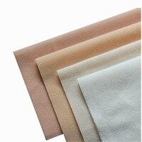 4 Colors DIY Doll Skin Fabric Fleece Velvet Fabrics Plush Fiber Cloth For Costura Sewing Stuff