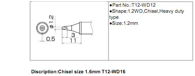 Online Shop Hakko T12 Tips T12 Bibc1bc2bc3kd12d16d24t15
