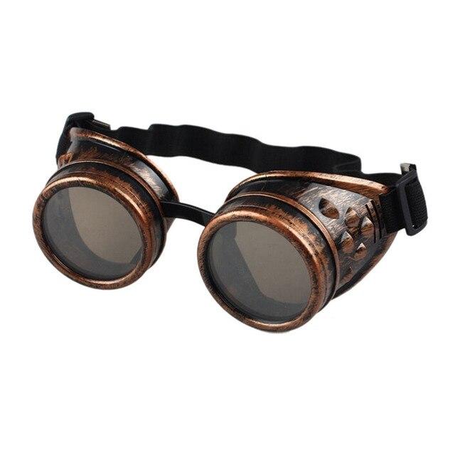 Lunettes de soleil style vintage Steampunk, lunettes de cosplay cosplay de soudage (Rose)