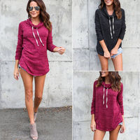 2017 Hot Women Autumn Casual Long Sleeve Hoodie Jumper Pullover Sweatshirt