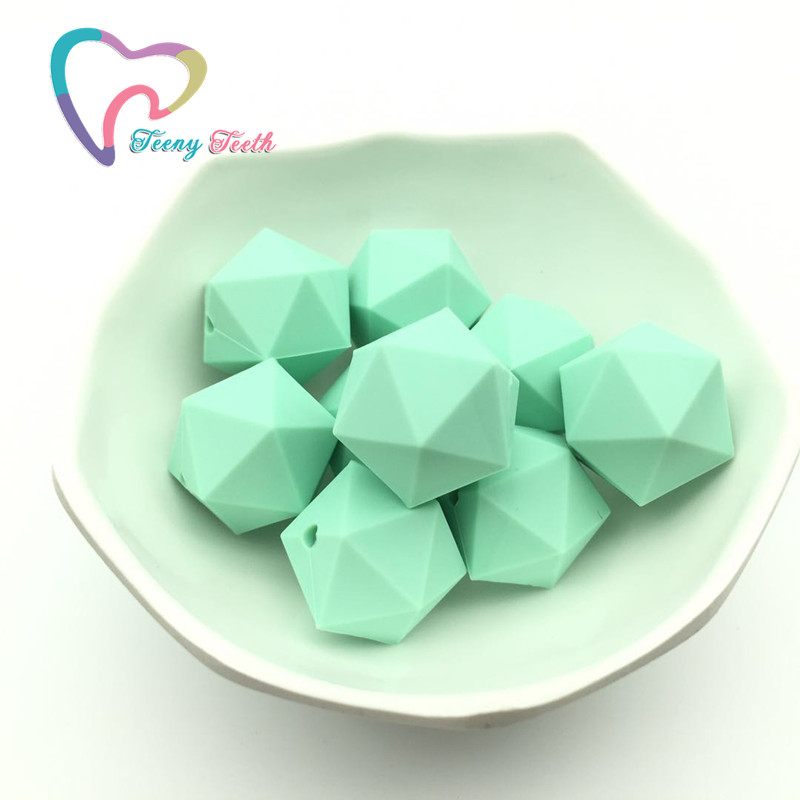 Jewelry & Accessories Teeny Teeth 10 Pcs Gritty Speckled Icosahedron Shape Silicone Beads Silicone Teething Beads For Baby Chewable Necklace Jewelry Beads & Jewelry Making