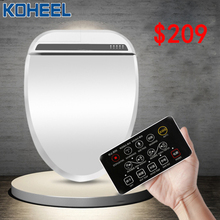 KOHEEL Intelligent Heated Toilet Seat Remote Control Water Closet Automatic Toilet Lid Cover Smart Bidet Toilet