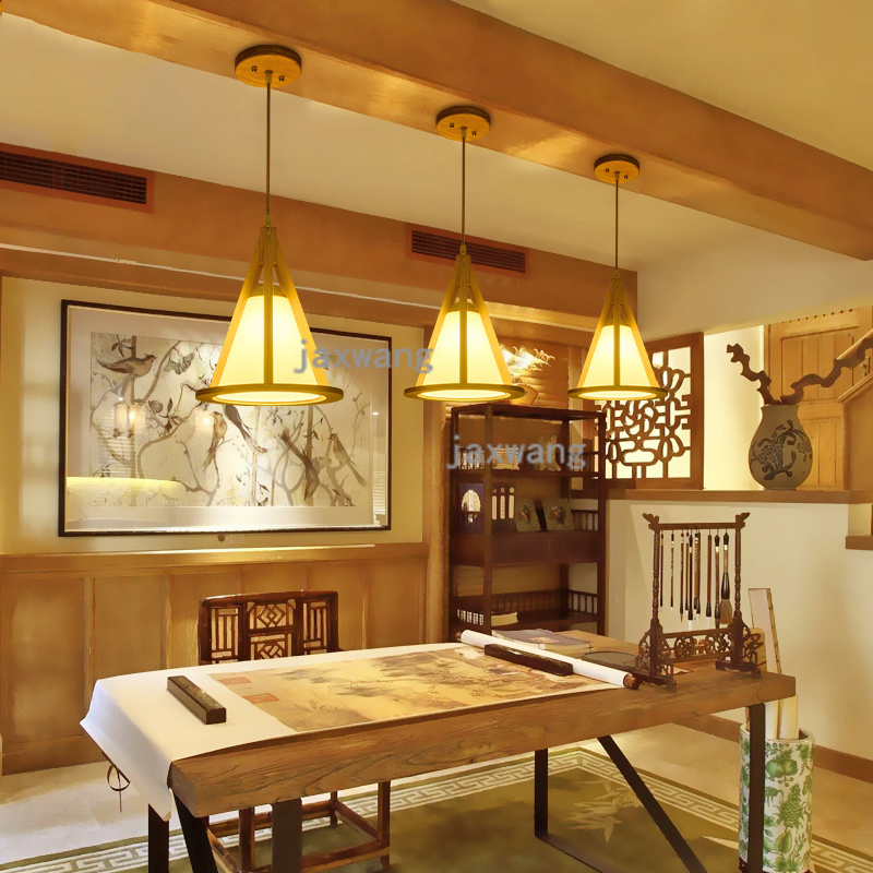 Nordic wooden pendant lights bedroom dinning kitchen hanging lamps Japanese lantern wood balcony retro hanglamp light fixtures