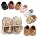 Nueva Moda Baby Boys & Girls Borlas Zapatos Mocasín Botas Primeros Caminante Prewalkers zapatos de Bebé Inferiores Suaves 0-18 Meses