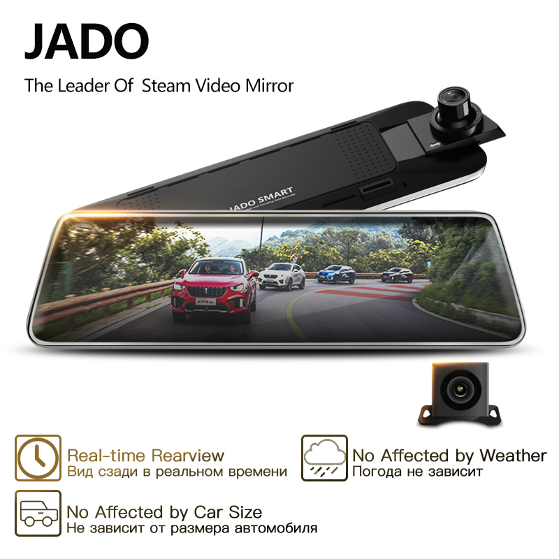 JADO Car Dvr Rearview-Mirror-Dvr Dash-Cam Stream Touch-Screen 1080P Full-Hd Avtoregistrator