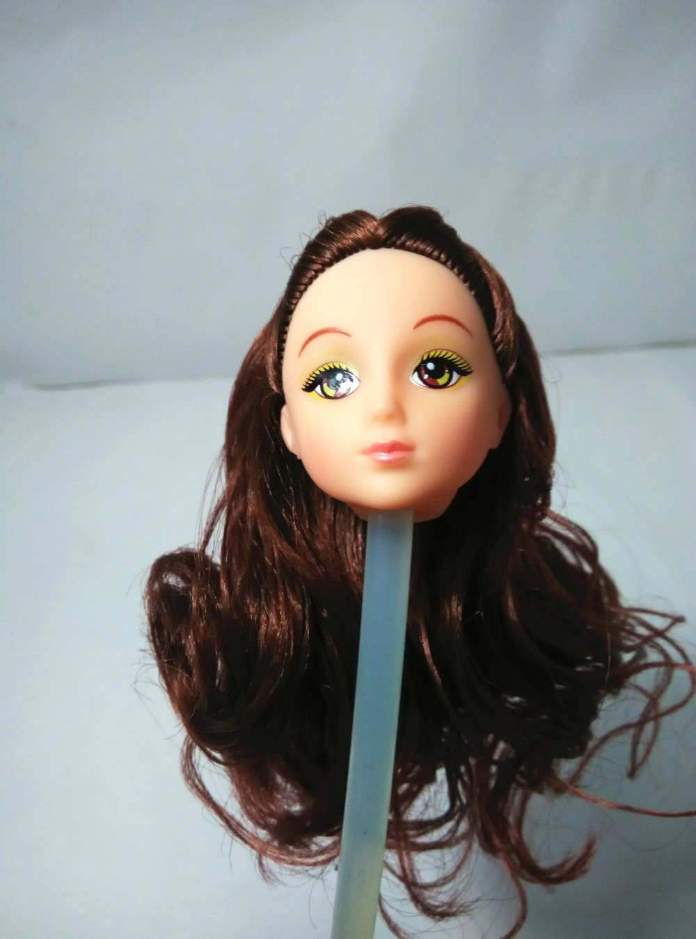 One Pcs Doll Equipment High quality Doll Head with Lengthy Hair DIY Equipment For Barbie Kurhn Doll Cute Hair type Women' Present