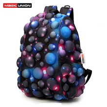 MAGIC UNION Fashion Men and Women Backpacks 3D Three dimensional Modeling Backpack Dead Tide Cool Personality