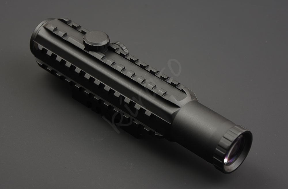 Tactical 4x28 Rifle Scope Wiht Three Sides 20mm Picatinny Rail Base Waterproof Shockproof R9144
