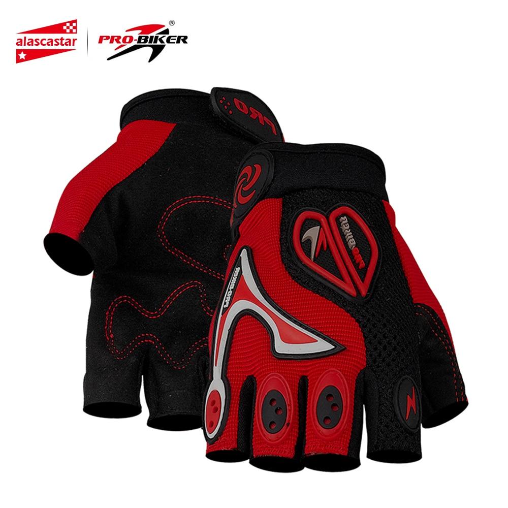 PRO BIKER Motorcycle Gloves Motocross Off Road Racing Cycling Bike Bicycle Gloves Moto Dirt Riding Half