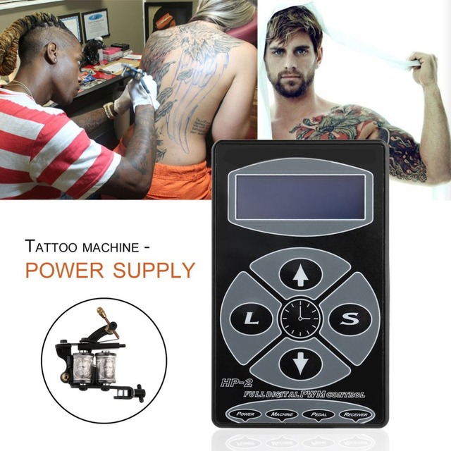 Tattooing Power Supply Hurricane Professional Power Supply Digital Dual LCD Display Tattooing Power Supply Machines EU/US Plug