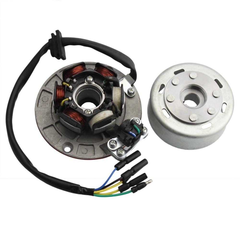 GOOFIT Magneto Stator Flywheel Rotor Kit for Yx 140cc 150cc 160cc Pit Dirt Bike Group-6