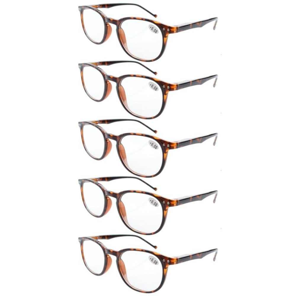 942085924f30 R065 Eyekepper 5-Pack Spring Hinges 80 s Reading Glasses Includes Sun  Readers +0.5