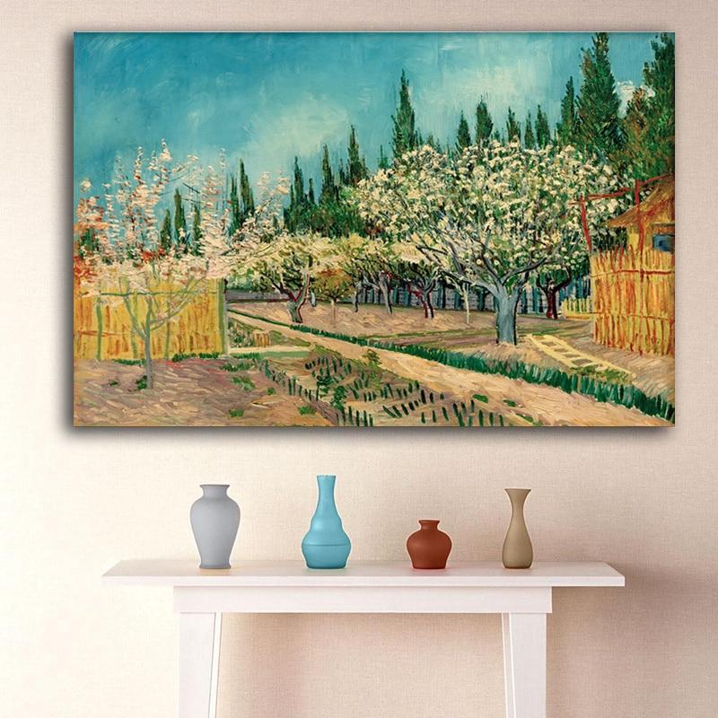Pinturas de Van Gogh Impressões em Tela Impressionista Paisagem Wall - Decoração de casa - Foto 3