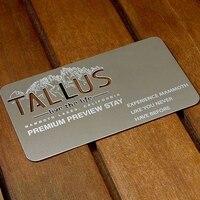 Luxury laser engraved stainless steel metal business card