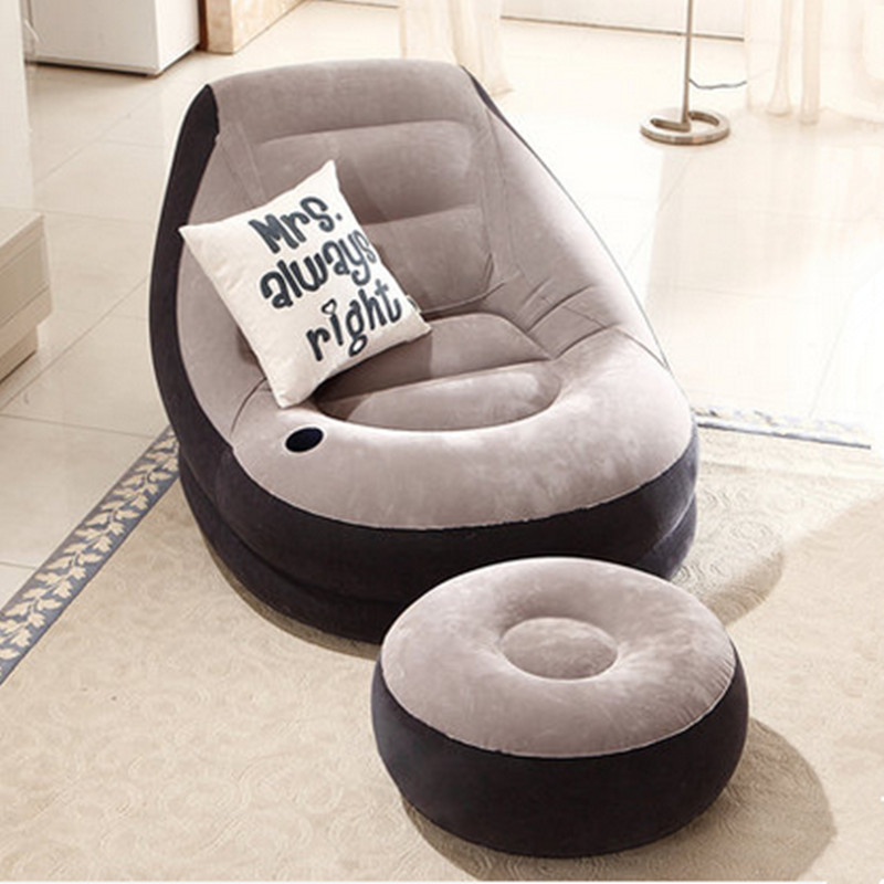 Bean Bag Chair Living Room Folding Furniture Inflatable Sofa Bed