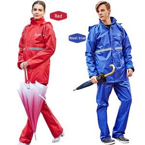 Image 3 - Rainfreemレインコートスーツ不浸透性女性/メンズフード付きオートバイポンチョS 6XLハイキング釣り雨具