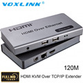 VOXLINK 1080P HDMI Extender HDMI KVM Over TCP/IP Extender up to 120m via single cat5e/6/7 for PC DVD STB PS3 Full HD 1080P