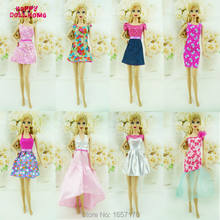 231c80887dbe0 Moda 5 takım/grup Güzel Seksi Mini Elbise Casual Parti Giyim Elbisesi  Karışık Stil Için Barbie bebek Aksesuarları Çocuk Hediye
