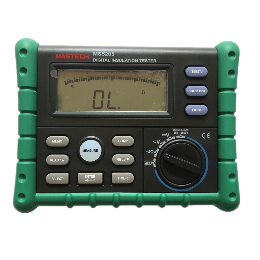 Mastech High Precision Digital MS5205 Insulation Tester Megger 100.0G MegOhm Meter <font><b>DC</b></font> 250/<font><b>500</b></font>/1000/2500V AC750V image