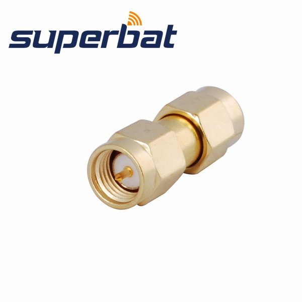 Superbat 5 Pcs SMA RF Adapter SMA Male Plug To SMA Plug Straight Free Shipping Coax Connector