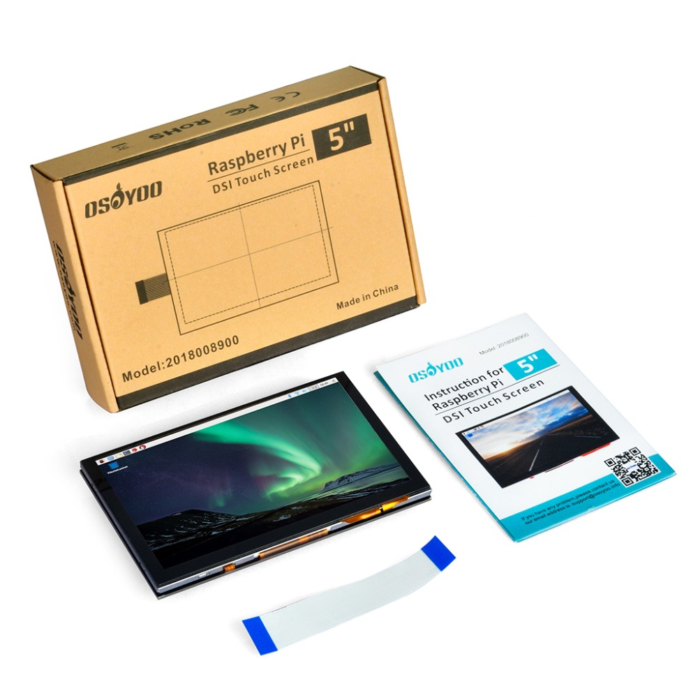 5 pouces 800x480 Raspberry Pi TFT écran tactile DSI connecteur LCD Support d'affichage framboise, Ubuntu MATE, Kali, système de RetroPie - 6
