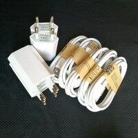 5ピースユニバーサルusb充電器euプラグトラベル壁の充電器アダプタ+ 5ピースマイクロusbケーブル用iphne 5サムスンhuaweiモバイル電話
