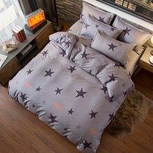 Лучшее. WENSD качественное серое пятиконечное постельное белье со звездами двойной размер Плоское покрывало домашний текстиль-простыня с наволочкой Комплект постельного белья