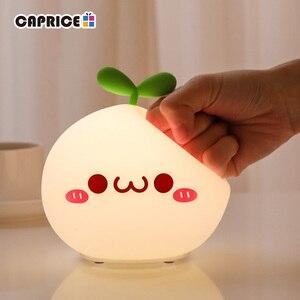 Image 3 - USB LED לילה אור מנורת רך סיליקון מגע חיישן Cartoon 5V 1200 mAh 8 שעות עבודה ילדים חמוד לילה אור BP D PPD U