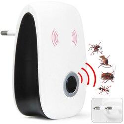 UE Reino Unido enchufe electrónico ultrasónico repelente de plagas repelente de mosquitos ratón rata ratón repelente Anti mosquitos asesino
